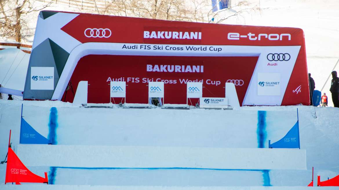 AUDI FIS SKI CROSS WORLD CUP TEST EVENT HAS STARTED